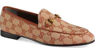 ff087216f93628 Pre-Loved Authentic Gucci GG Canvas Jordaan Loafers - Biege - Size 39.5