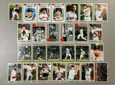 2019 Topps Heritage Boston Red Sox Team Base set 26 cards World Series Champions