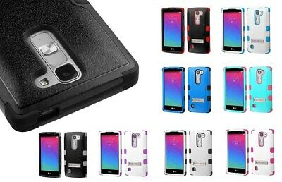 Hybrid Case +Silicone Hybrid +Stand Protector TUFF Cover for LG Escape 2 H443