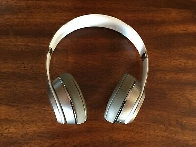 Beats by Dr. Dre Solo 2 LUXE Wired On Ear Headphones - Silver GENUINE AUTHENTIC