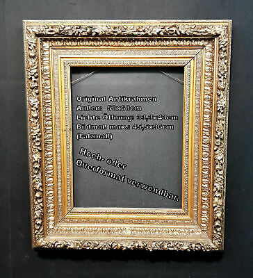 Magnificent Frame Stucco Frame 19. Century. Original Antique Frame Mirror Frame