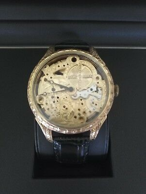Le COULTRE Vintage Men's Wristwatch LeCoultre Gold Skeleton Mens Wrist Watches