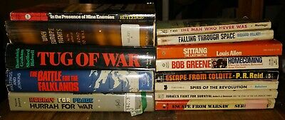 Huge Lot 13 Vtg War Books WW2 WWII Vietnam Hc/dj Ex-lib why europe fights pb