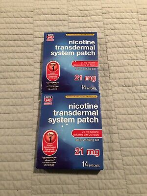 2 boxes rite aid nictotine transdermal system patch 28 patches,  step 1, 21 Mg