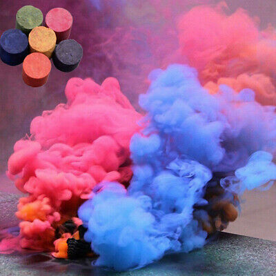 1PCS 6 Colorful Smoke Cake Pills Photography Props Interactive Crazy Fun Toy NEW