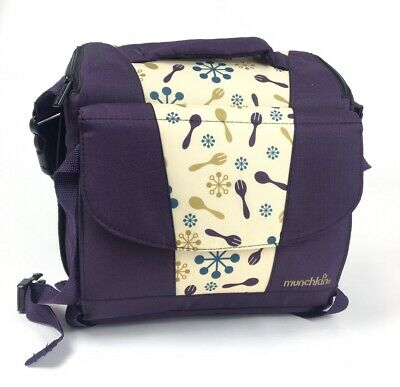 Munchkin Travel Booster Seat Convertible With Storage Baby Toddler Purple NWOT