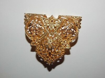 Vintage Dotty Smith Filigree Belt Buckle