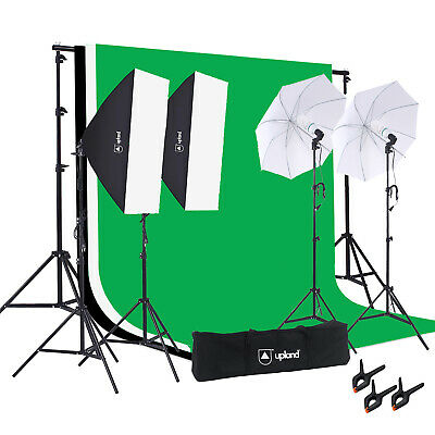 Upland Photography Umbrella Softbox Continuous Studio Lighting Kit