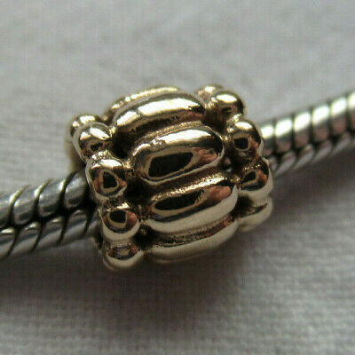 Unworn Retired Pandora 14K Yellow Gold Barrel Charm Bead 750242