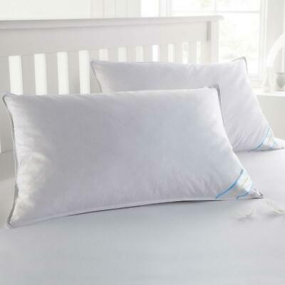 Sweet Home Collection Goose Down and Feather Bed Pillow 2 Pack - Soft...