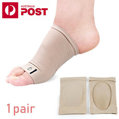 Arch Support GEL Plantar Fasciitis Foot Heel Sleeve Pain Relief Insole Orthoti Z