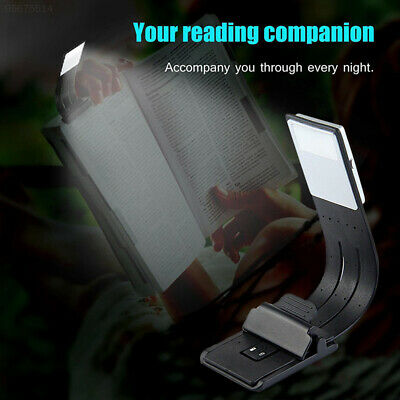 47C7 USB Rechargeable LED Reading Light Book Lamp LED Clip Booklight Flashlight
