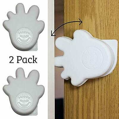 Happy Hands Anti Slam Child Door Safety Finger Trap Stoppers - 2 Pack … (White