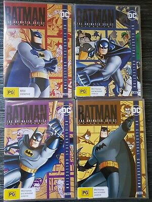 Batman: The Animated Series Volume 1 2 3 4 - DVD - DC Collection New & Sealed R4