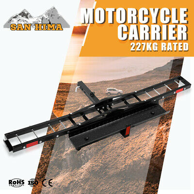500LBS Foldable Motorcycle Rack Carrier For Car Rear Towbar Hitch Mount 2 inch