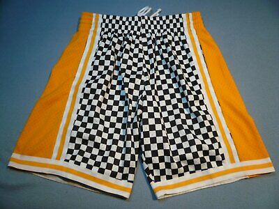 0b5f4868cd1 Mitchell   Ness Los Angeles Lakers Checkerboard BRAND NEW Shorts NWT NBA  HWC LA