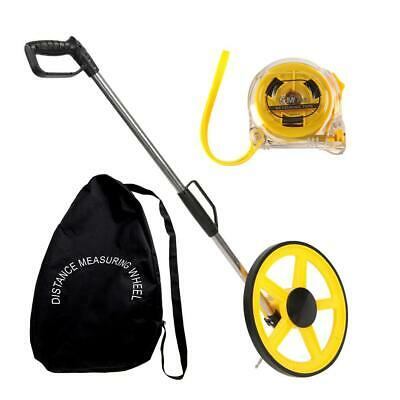 Foldable Distance Measuring Wheel with Bag Tape Surveyors Builders Road Land