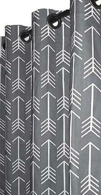 """1 Pair of Designer Cotton Arrows Print Custom Drapes with Grommets 50""""W x Select"""