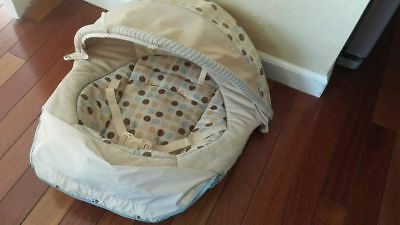 Seat pad fabric cloth cover Deco Polka Dots Graco Soothe Swaddle bouncer chair