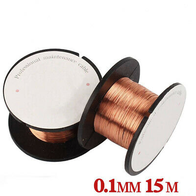 0.1mm 15M Enamelled Wire Enamelled Copper Wire Rotor Coil Magnet Wire Solder