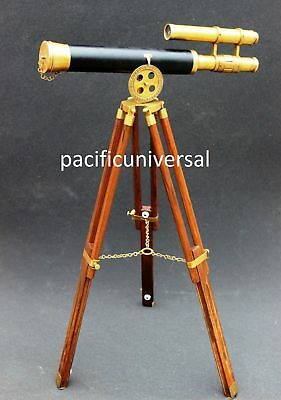 Lot Of 10 Pcs Vintage Maritime Ship Nautical Brass Telescope With Designer Moder