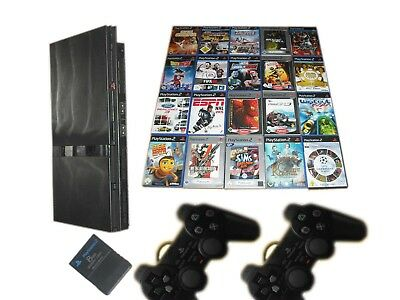 Sony PS2 Slim Konsole + 2 Controller + 10 Spiele Gratis * Playstation 2