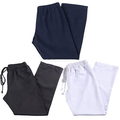 82c2a97f6b4f Unisex Chefs Trousers Chef Clothes Pants Kitchen Canteen Uniforms Drawstring