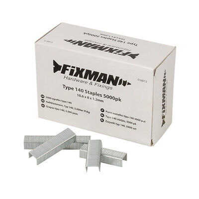 Fixman Type 140 Staples 5000pk 10.55 x 8 x 1.26mm | 516813