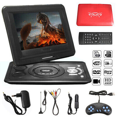 13.9'' Inch Portable HD TV DVD Player 16:9 LCD 270° Swivel Screen 110-240V