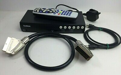 Goodmans GDR11 DVB Freeview Digital TV Set Top Box TWIN SCART with Remote
