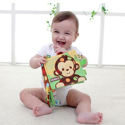 1Pc Fun Baby Kids Cloth Book Animals Books Early Learning Educational Toys FI