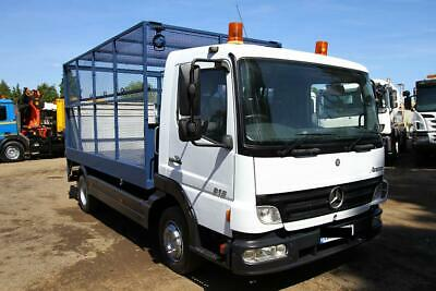 2006 Mercedes Atego 818 4X2 Cage Truck With Tail Lift Rubbish Collection Refuse