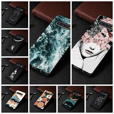 For Samsung Galaxy S10 Plus Shockproof Soft Silicone Painted TPU Back Case Cover