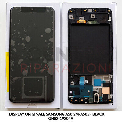 Display Lcd Touch Screen Originale Samsung Galaxy A50 2019 Sm-A505F Nero Black