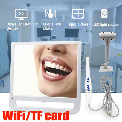 WiFi/TF Card Digital LCD AIO Monitor Dental Intra Oral Camera 17Inch + Rack
