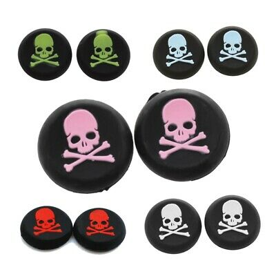 2 Pcs Skull Design Anti-slip Silicone Caps for Sony PS3 PS4 Game Controller  3H9