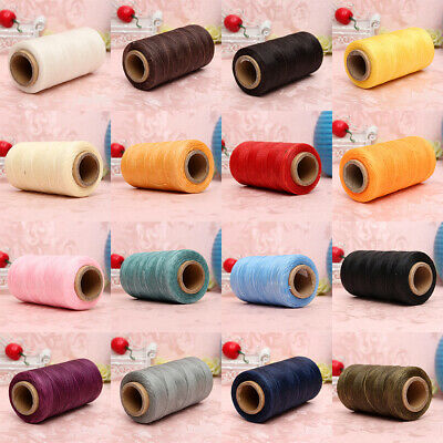 260M 150D 1MM Leather Sewing Waxed Wax Thread Hand needle Cord Craft DIY New 7X3