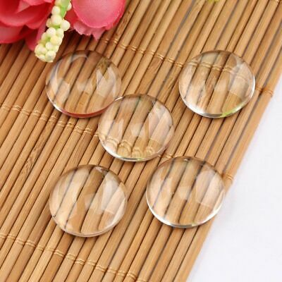 100Pcs Transparent Dome Half Round Glass Cabochons Beautiful Clear DIY Jewelry