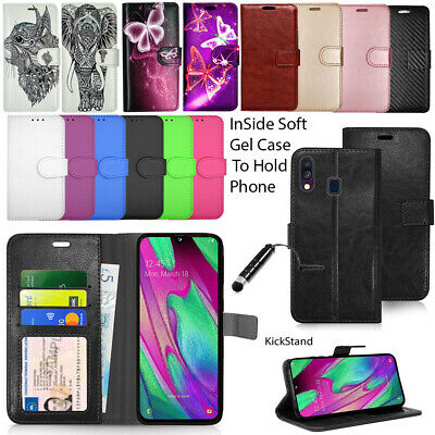 For Samsung Galaxy A40 SM-A405FN Wallet Leather Case Flip Cover + SCREEN GUARD