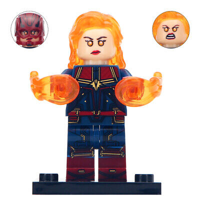 Lego Custom Captain Marvel v2 (Avengers: Endgame) MiniFigure - Toy for Kids