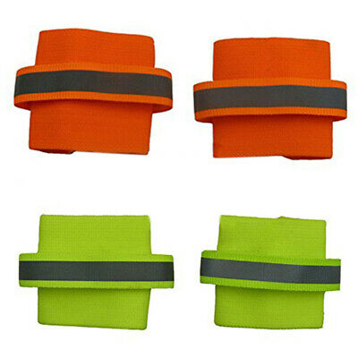Doglemi 2pcs Per Set Reflecting Safety Dog Wristband Pet Wristband, Orange M 4B4