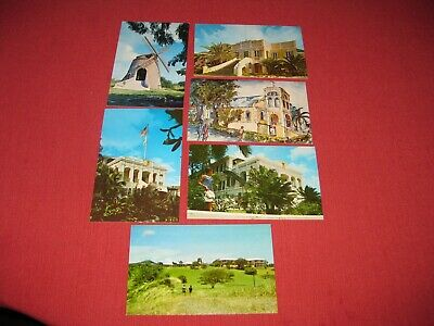 Lot of 6 Vintage 1969 St. Croix Postcards Posted & Unposted EXC