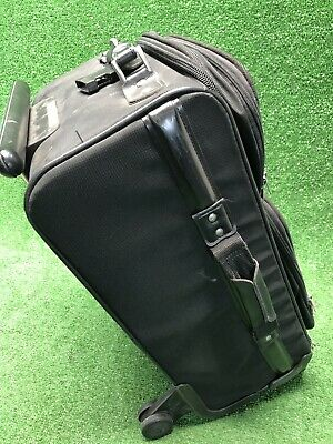 Samsonite Luggage Ez Cart Black 4 Wheeled Tilting Rolling Suitcase 25x14x10