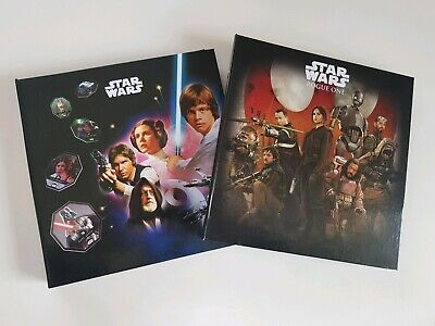 albums jetons star wars cosmic shell complet Leclerc lot 2 albums neuf