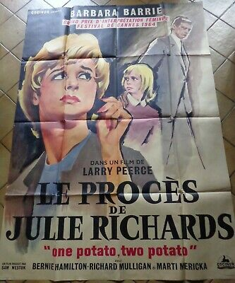 AFFICHE ORIGINALE CINEMA LE PROCES DE JULIE RICHARDS Prix festival CANNES 1964