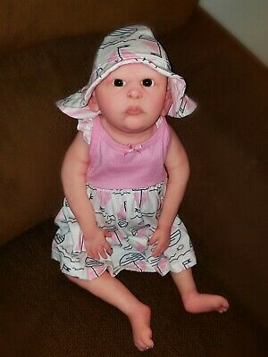 """Huge Full Body Silicone Baby Girl 23"""" 6 Month Old gorgeous baby"""