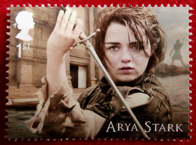 Game of Thrones: ARYA STARK - FIRST CLASS ROYAL MAIL STAMP - MINT