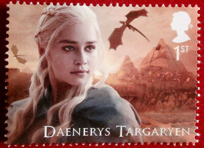 GAME OF THRONES - Daenerys Targaryen FIRST CLASS ROYAL MAIL STAMP - MINT