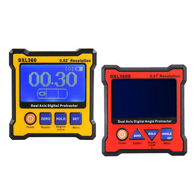 2 Piece DXL360+DXL360S Dual Axis Digital Protractor Angle Level Instrument