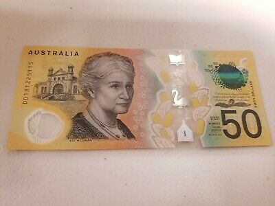 RARE New Design $50 Australian Note With Spelling Error, EXCELLENT CONDITION